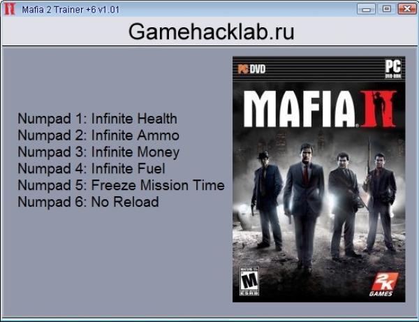 Mafia 2: трейнер/trainer (+12) [1. 0. 0. 1] {trainergames} читы.