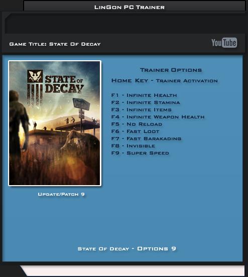 скачать трейнер к State Of Decay Yose Day One Edition - фото 9