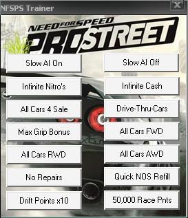 Скачать Nfs Pro Street Трейнер - фото 3