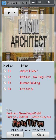 скачать трейнер на prison architect