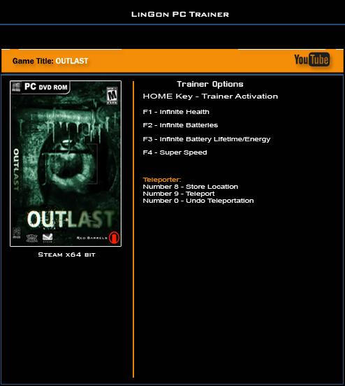 скачать трейнер для Outlast - фото 3