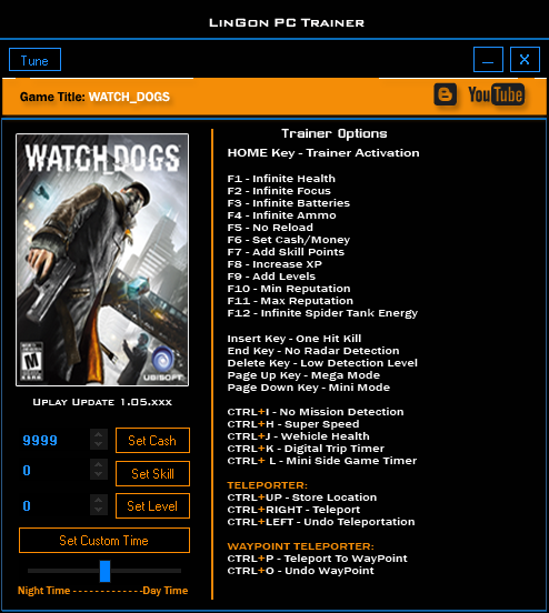 Watch Dogs Trainer Fling
