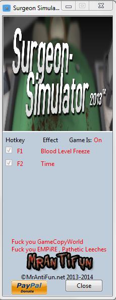 скачать трейнер для surgeon simulator 2013