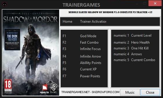 Shadow Of Mordor скачать трейнер - фото 4