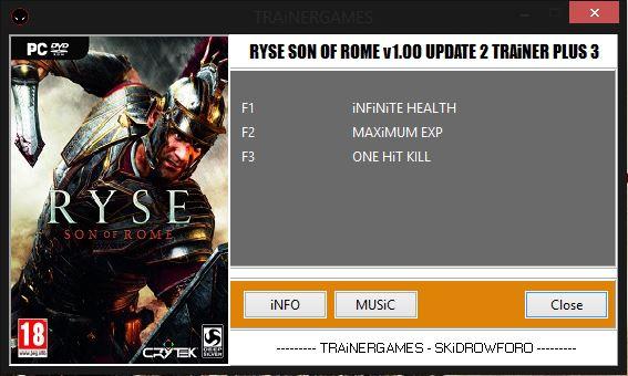 скачать трейнер для игры Ryse Son Of Rome - фото 4