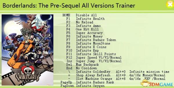 Borderlands: The Pre-Sequel: Трейнер/Trainer (+25) [All ... Borderlands Pre Sequel Pc Trainer