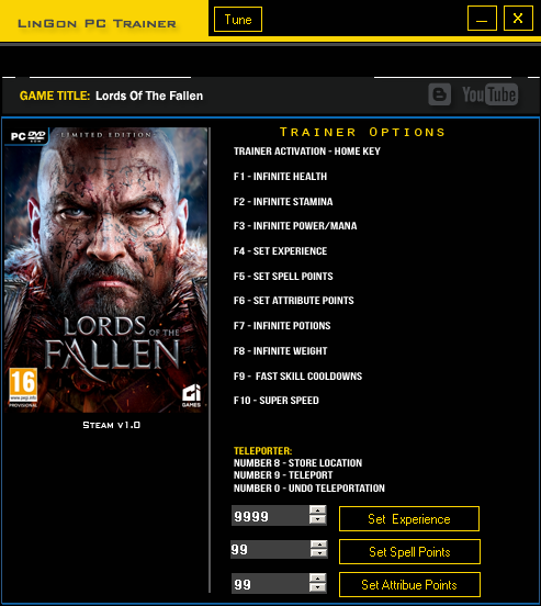 Lords of the Fallen: Трейнер/Trainer (+12) [1.0]