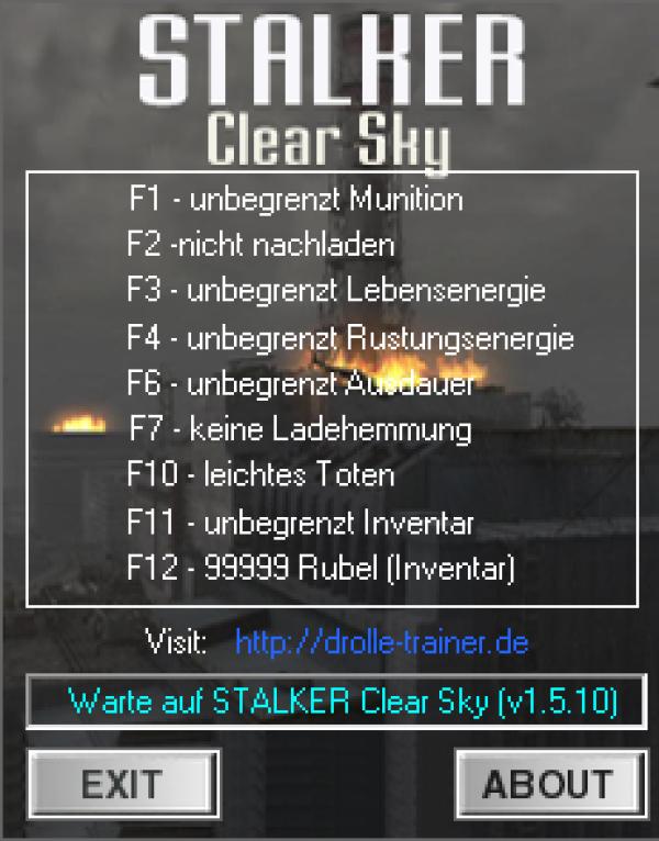 S. T. A. L. K. E. R. : clear sky — трейнер / trainer (+14) [1. 5. 10] [lirw.