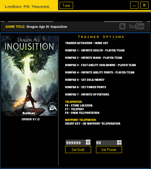 Dragon Age инквизиция скачать трейнер img-1