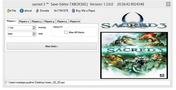 Sacred 3 - Редактор сохранений | Save Editor [XBOX360]