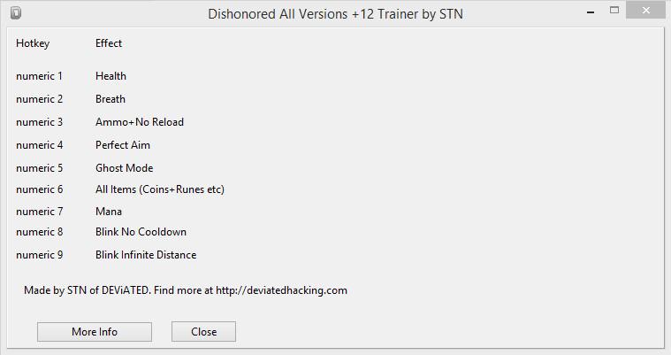 скачать трейнер для игры Dishonored для всех версий - фото 5