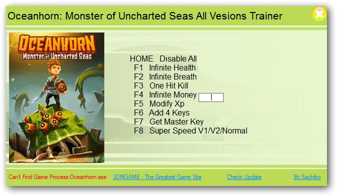 Oceanhorn: Monster of Uncharted Seas: Трейнер/Trainer (+8) [All Versions]