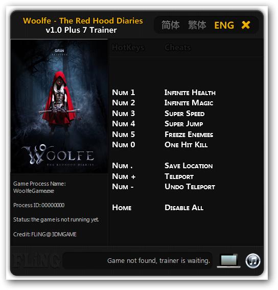 Woolfe - The Red Hood Diaries ТрейнерTrainer (+7) [v.1.0 - 32x64Bit] {FLiNG}