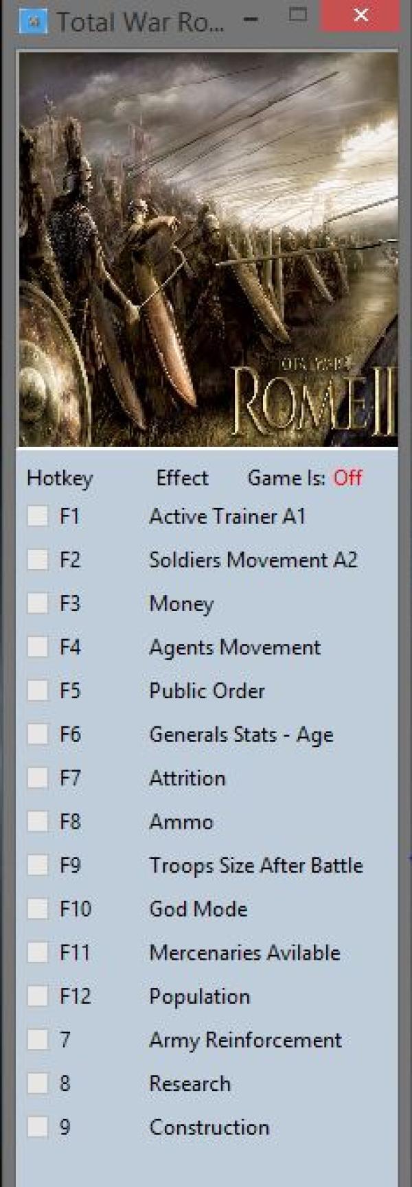 Total War: Rome 2 трейнер +15 v1.14.1 Build 13180 MrAntiFun - скачать читы,