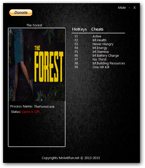 The Forest: Трейнер/Trainer (+9) 0.32