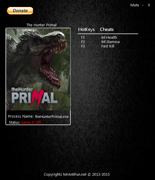 The Hunter Primal: Трейнер/Trainer (+3) [20150409] {MrAntiFun}
