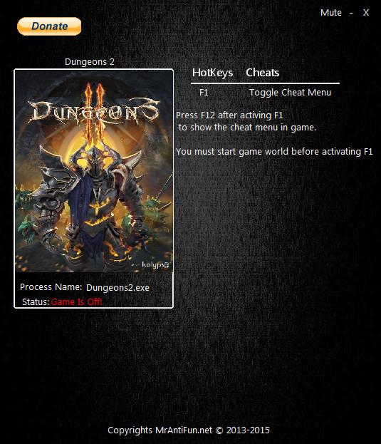 скачать трейнер для dungeons 2