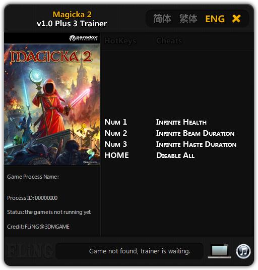 Magicka 2: Трейнер/Trainer (+3) [1.0] {FLiNG}