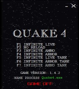 Чит коды для quake 4