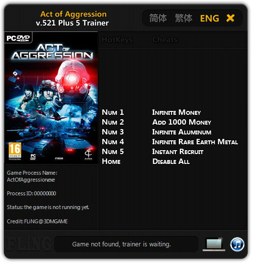 Act of Aggression: Трейнер/Trainer (+5) [573] {FLiNG}