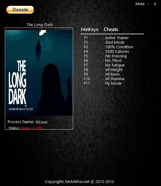 The Long Dark: Трейнер/Trainer (+9) [2.82] {MrAntiFun}