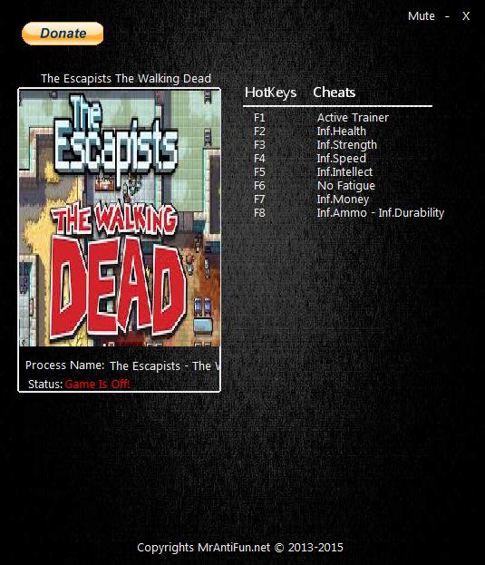 скачать трейнер для the escapists the walking dead