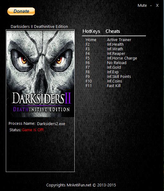 Скачать трейнер для darksiders 2 deathinitive edition
