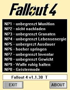 fallout трейнер: