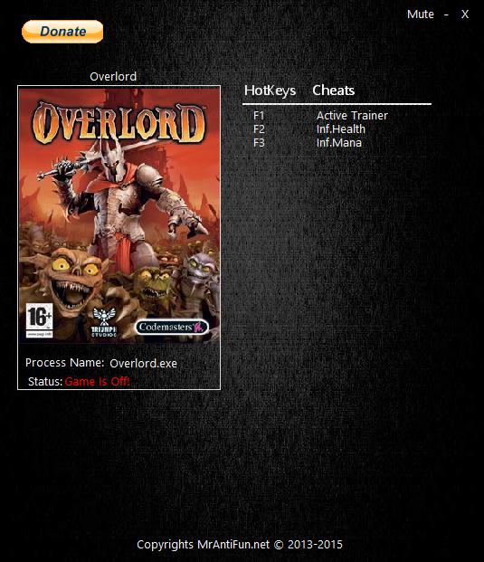 Скачать Трейнер Overlord - фото 3