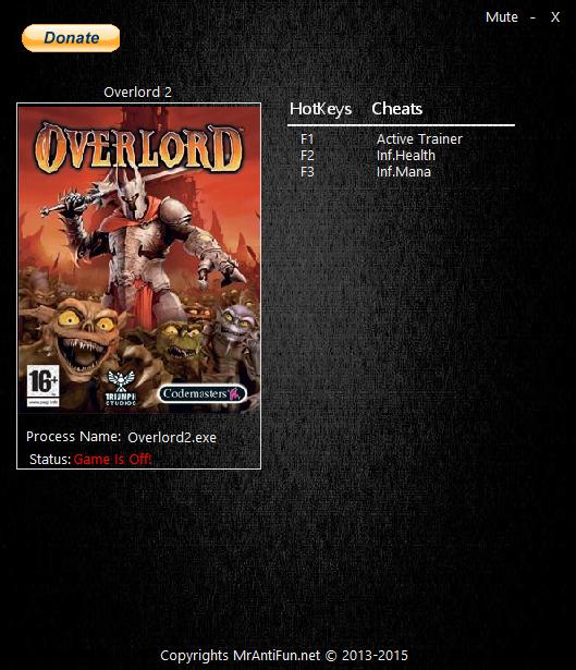 скачать Overlord 2 трейнер - фото 5