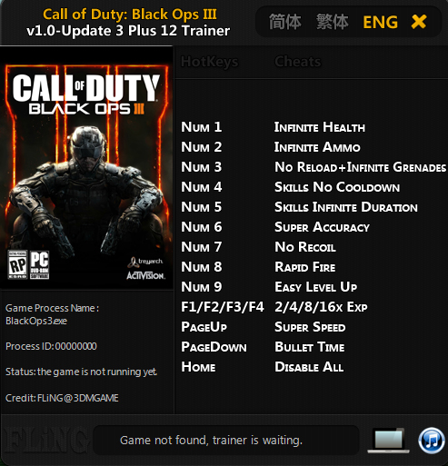 Скачать Трейнер Для Call Of Duty Black Ops 3