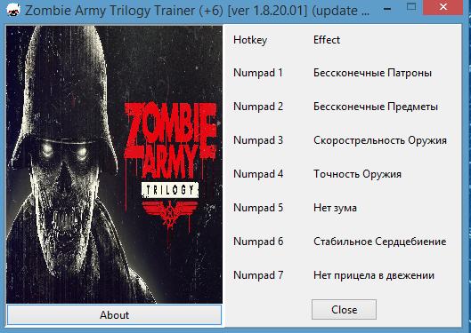 скачать трейнер на Zombie Army Trilogy - фото 2