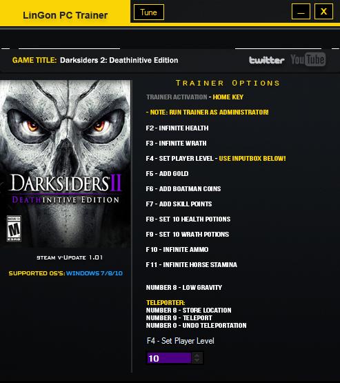 скачать трейнер для Darksiders Ii Deathinitive Edition - фото 2