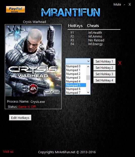скачать читы на Crysis Warhead - фото 6