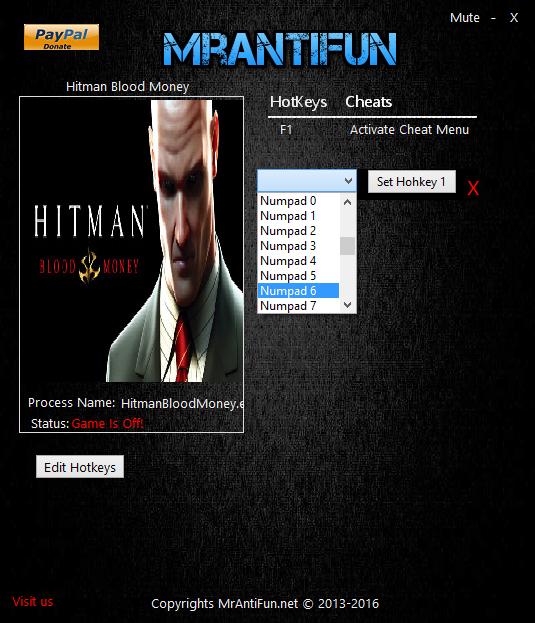 скачать трейнер для Hitman Blood Money - фото 2