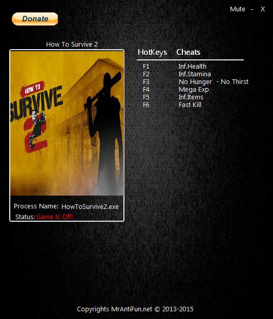 Скачать Трейнер How To Survive 2 img-1