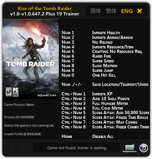 Rise Of The Tomb Raider Cheats Pc