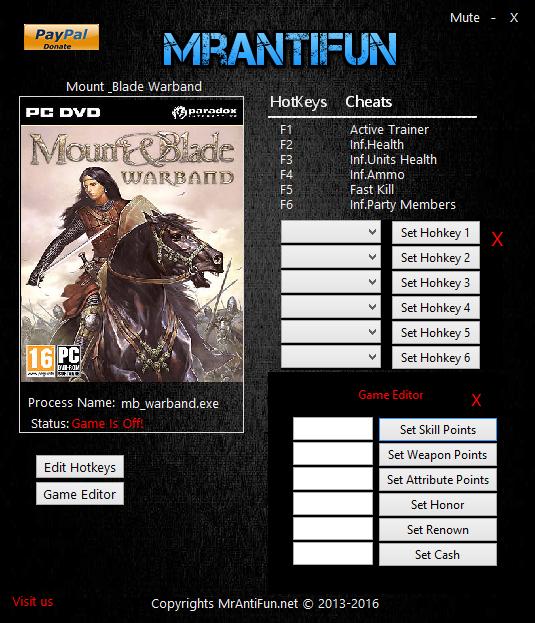 Скачать Трейнер Для Mount And Blade Warband Viking Conquest