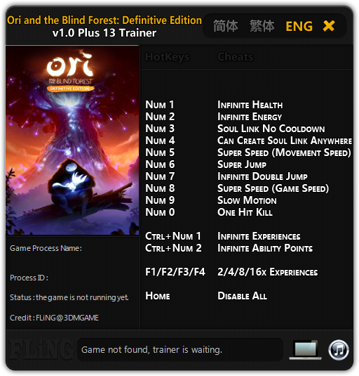 Ori And The Blind Forest Definitive Edition Трейнер