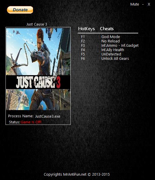 скачать читы на Just Cause 3 - фото 7