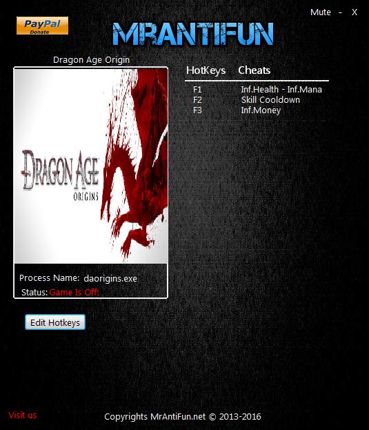 скачать трейнер для Dragon Age Origins - фото 2