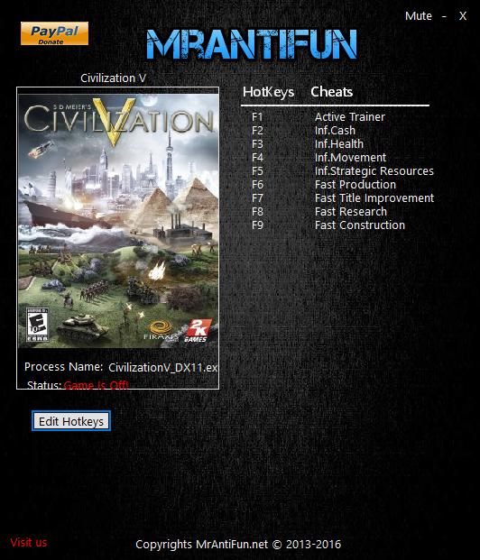 Civilization 5 читы 103144 - 37c