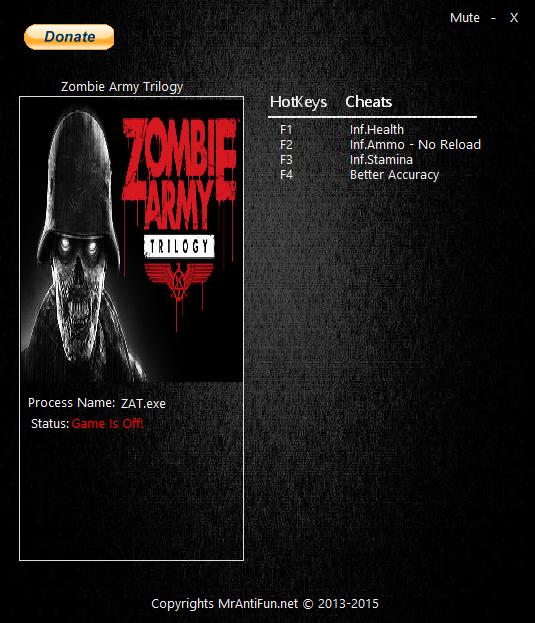 Скачать трейнер для zombie 2015