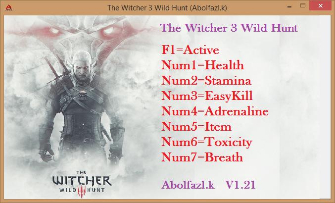 Скачать Трейнер для The Witcher 3 V 1.21