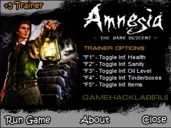 Скачать Трейнер Amnesia The Dark Descent