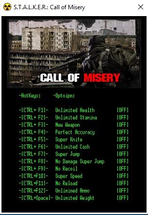 скачать трейнер для сталкер Call Of Misery - фото 2