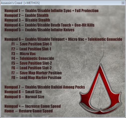 Assassin's Creed: Трейнер/Trainer (+15) [1.0] {+METHOS ...