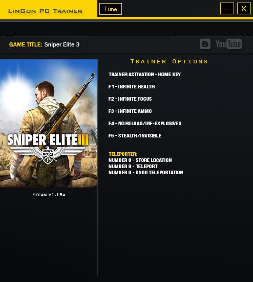 Sniper elite 3 скачать трейнер