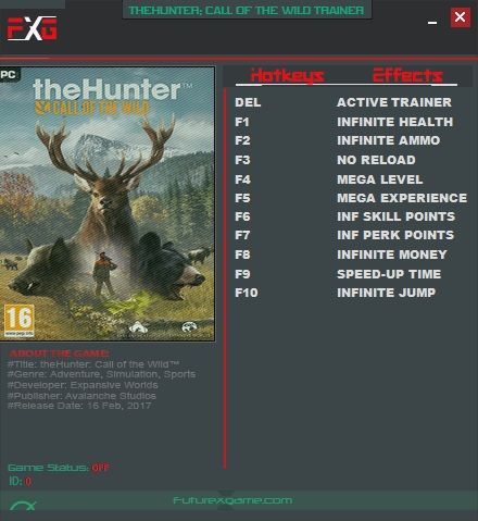 скачать трейнер на the hunter call of the wild
