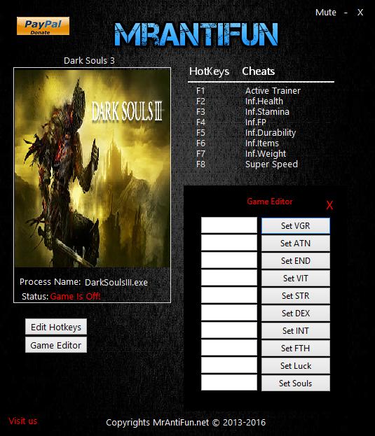 скачать читы на Dark Souls 3 - фото 3